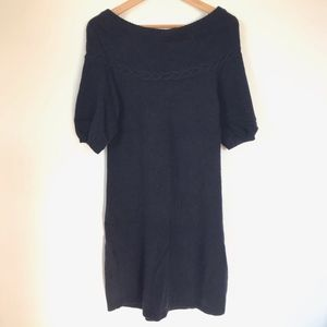 BCBGMaxAzria Navy Wool Sweater Dress sz S
